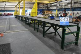 """BALL CONVEYOR (14) 5' SECTIONS 32"""" W X 35"""" H X 70' TOTAL LENGTH"""
