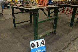 HD METAL TABLE 4' X 5, 3' HT