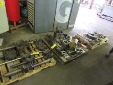 Tool Posts, Tool Holders, Tooling and Vidmar Storage Cabinet for Mazak Engine Lathe