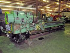 """24"""" X 120"""" LEHMANN HOLLOW SPINDLE LATHE WITH 12"""" SPINDLE BORE"""