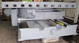 """120"""" X 120"""" GIDDINGS & LEWIS POWER ROTARY TABLE WITH INFEED"""