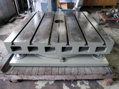"""60"""" X 60"""" GIDDINGS & LEWIS AIR LIFT ROTARY TABLE"""