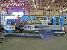 """32"""" X 118"""" KURAKI MODEL LC-403 30 HOLLOW SPINDLE LATHE WITH 12.5"""" SPINDLE BORE"""