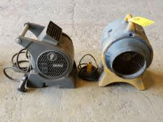 "(2) 8"" Confined Space Blowers 1/3HP, 120V, 2.3A; Mfg's: (1) Air King, (1) Americ"