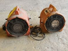 "Ecko (2) 8"" Confined Space Blowers 1/3HP, 120V, 2.3A"