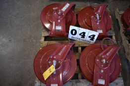 (4) REEL CRAFT TW7450OLETT AIR HOSE REELS
