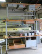 Wood Work Bench With Bench Vise