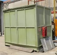Green 2-Door Storage Container