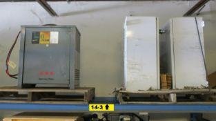Exide GNB FLX200 24V Battery Charger, 4X Enclosures Square D Power Logic