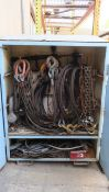 HD Metal Cabinet With Heavy Cable Rigging Equipment