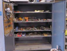 HD Metal Cabinet + Contents, Hand Tools And Testers
