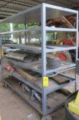 Large 6 Shelf Rolling Cart