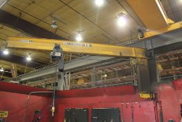 HANDLING SYSTEMS 2 TON COLLUMN MOUNTED JIB CRANE, REMOTE CONTROLLED,ASST#: 1001116