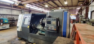 "2012 HYUNDAI WIA L400C CNC TURNING CENTER, WITH 15"" 3 JAW CHUCK, 10 POSITION TURRET"