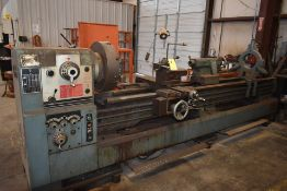 "2008 KINGSTON HD26120 ENGINE LATHE, 21"" 4 JAW CHUCK, QUICK CHANGE TOOL POST, STEADY REST, ASSORT"