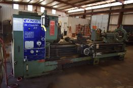 "2012 KINGSTON OIL COUNTRY 30 HK3000 ENGINE LATHE, 24"" 4 JAW CHUCK, QUICK CHANGE TOOL POST, STEADY"