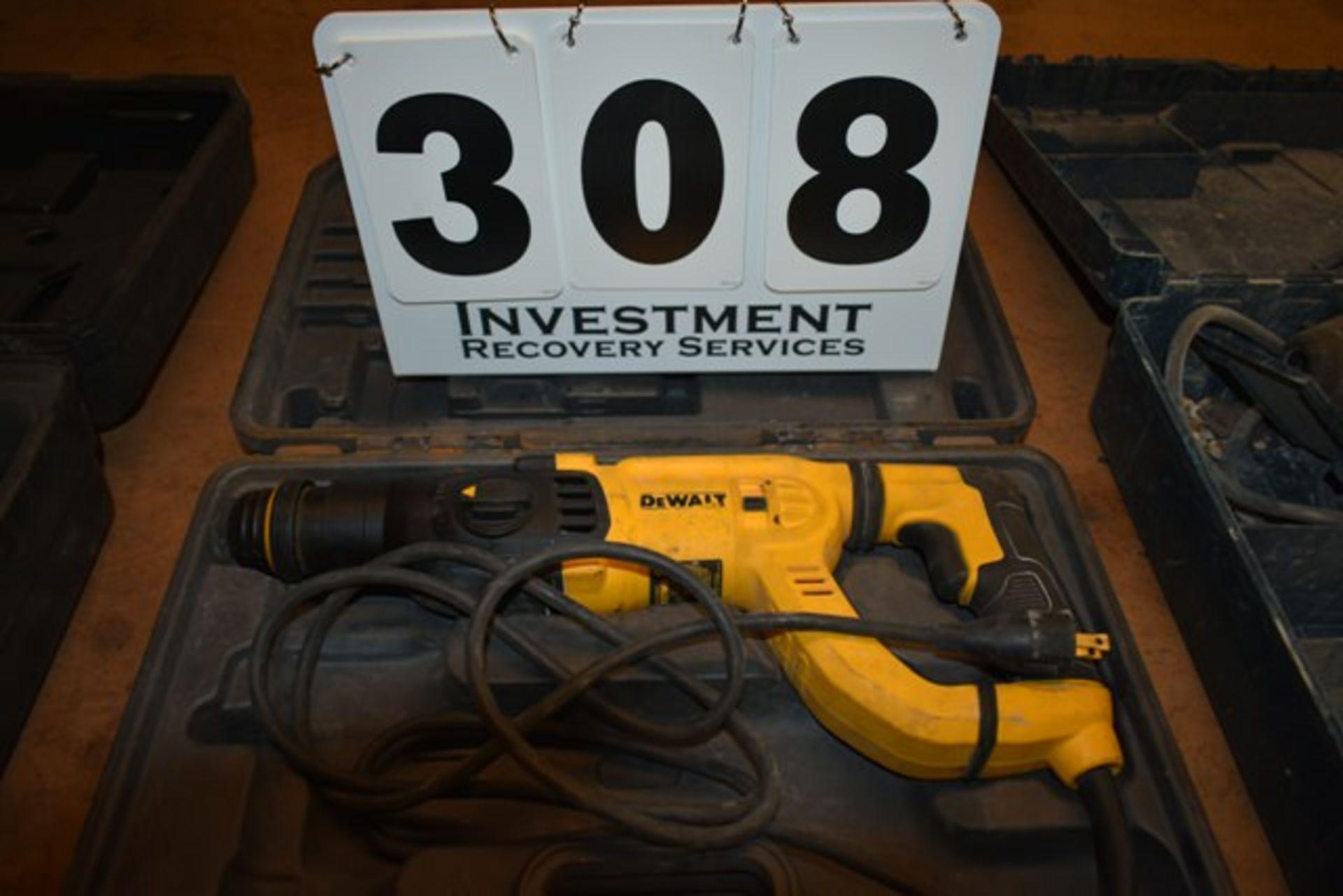 Lot 308 - DEWALT ELECTRIC HAMMER DRILL