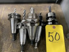 (5) Hass BT 40 End Mill Tool Holders