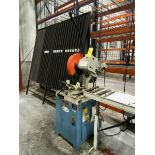 2012 Bail eight CS-350M Circular Cold Saw 45 Degree Left /45 Right Head Miter, 1.575'' Round Solid