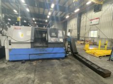 1998 Mazak QT-35XS CNC Lathe 20'' Max Swing, 3'' Spindle Bore, 12'' Max Día, 55'' Center Distance,