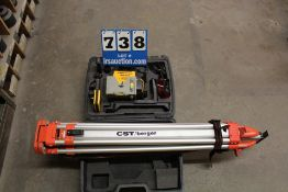 CST BERGER, LEVELER, MDL:LM800 SERIES W/ TRIPOD CASE