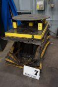 "ELECTRIC SCISSOR LIFT TABLE, 5,500 LB CAP W/ 36"" POWER TURN TABLE"