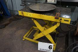 "ELECTRIC SCISSOR LIFT TABLE, 2,000 LB CAP W/ 24"" POWER TURN TABLE"