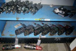 ZEPHER MICRO ADJUST WELD SHAVERS (9), 90* drills .25/28 bits, drill guns,