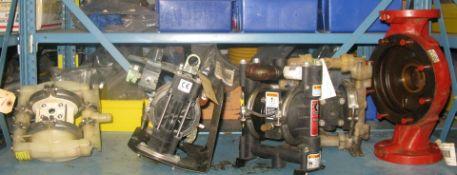 Pneumatic powered pumps plus misc item