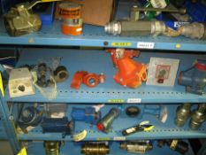 Hydraulic valves, couplings and various items