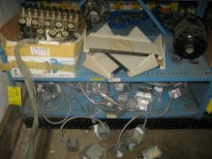 Pneumatic controlvalves and gages, light sockets with ballast and misc items