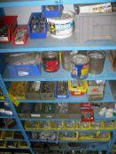 Hardware misc, shelf contents