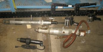 Pneumatic feed drills, plus other items