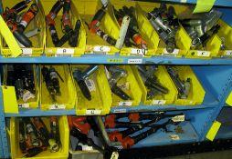 Pneumatic drill guns, 90* drills, Hi-Lock off-set drills, rivet guns, high speed grinders plus misc