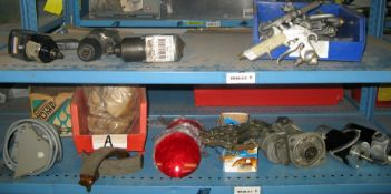 Various automotive tools and parts