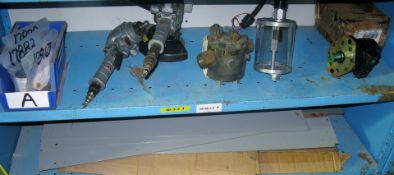 DMC wire crimp die sets, pneumatic and hydraulic items, shelf dividers