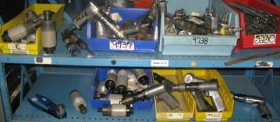 Pneumatic drills and grinders and misc hand tools