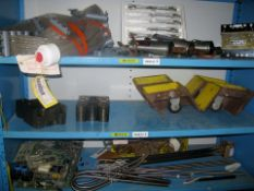 Chuck jaws,, electrical items, HD casters plus misc circuit boards, heater elements + misc