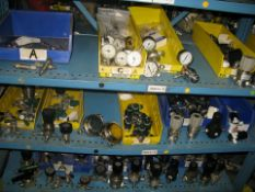 High pressure oxygen valves and gages