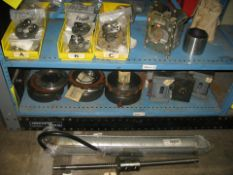 Thread gages, clutch assemblies, hydraulic motors, ball screw, actuator plus misc items
