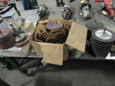 Lot: Sanding Discs, Belts, Grinding Wheels