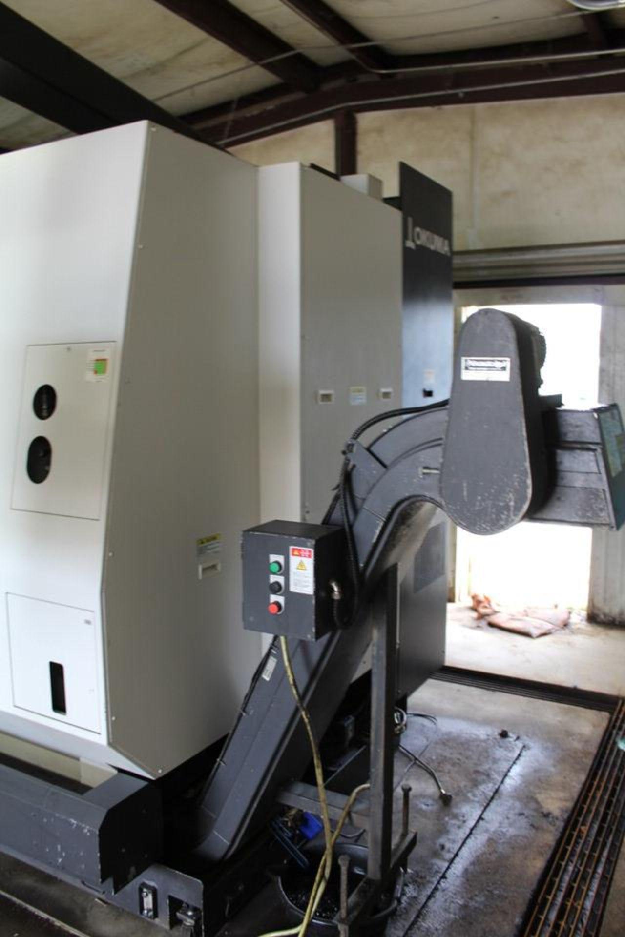 2018 OKUMA LU35II X 1500MM DUAL TURRET CNC LATHE - Image 7 of 12