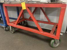 Lot of 2 Rolling Shop Carts