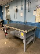"""72"""" x 36"""" Metal Shop Table with 2 Drawers"""