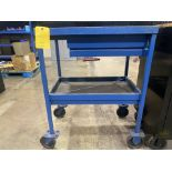 Lot of 3: (2) Shop Carts, (1) Table