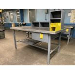 """72"""" x 36"""" Metal Shop Table with 1 Drawer"""