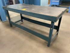 """72"""" x 36"""" Metal Shop Table with Wilton Vise"""