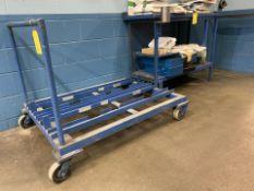 Lot of 3: (2) Shop Carts, (1) Metal Table