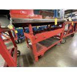 Hydraulic Adjustable Height Shop Cart on Wheels