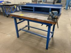 """50"""" x 32"""" Metal Shop Table with Wilton Vise"""